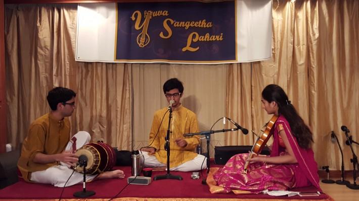 Ashvin Ravi accompanied by Neha Krishnamachary (violin) , Gopal Ravindhran (mridangam)